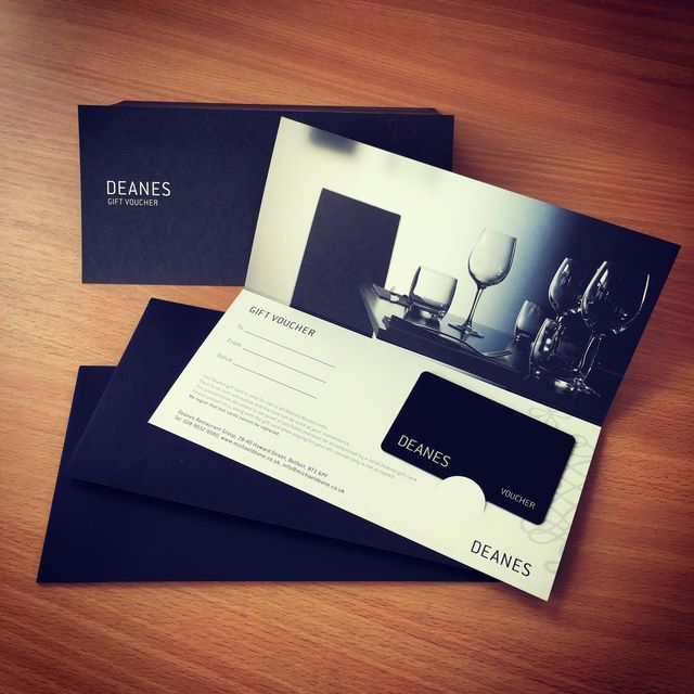 Gift Vouchers for Deanes
